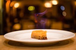 Pudim de mel flambeado / Honey pudding on fire