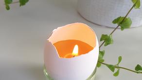 DIY: Lag supersøte bivokslys i eggeskall. Perfekt aktivitet i påsken