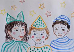 3 niños al carnaval