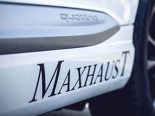 """Maxhaust"" Sticker (White)"