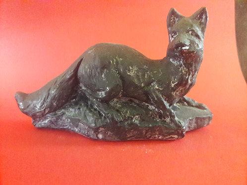 Vintage Basalt carved fox