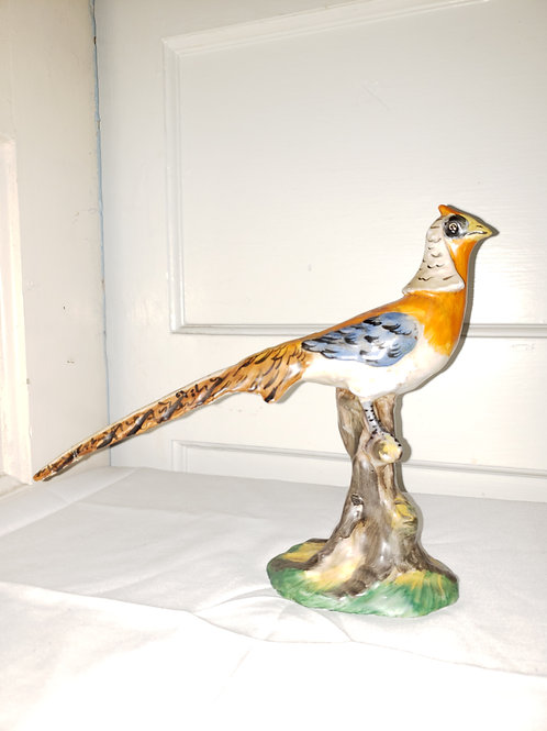 Made in Italy Hand painted Pheasant Bird Figurine.
