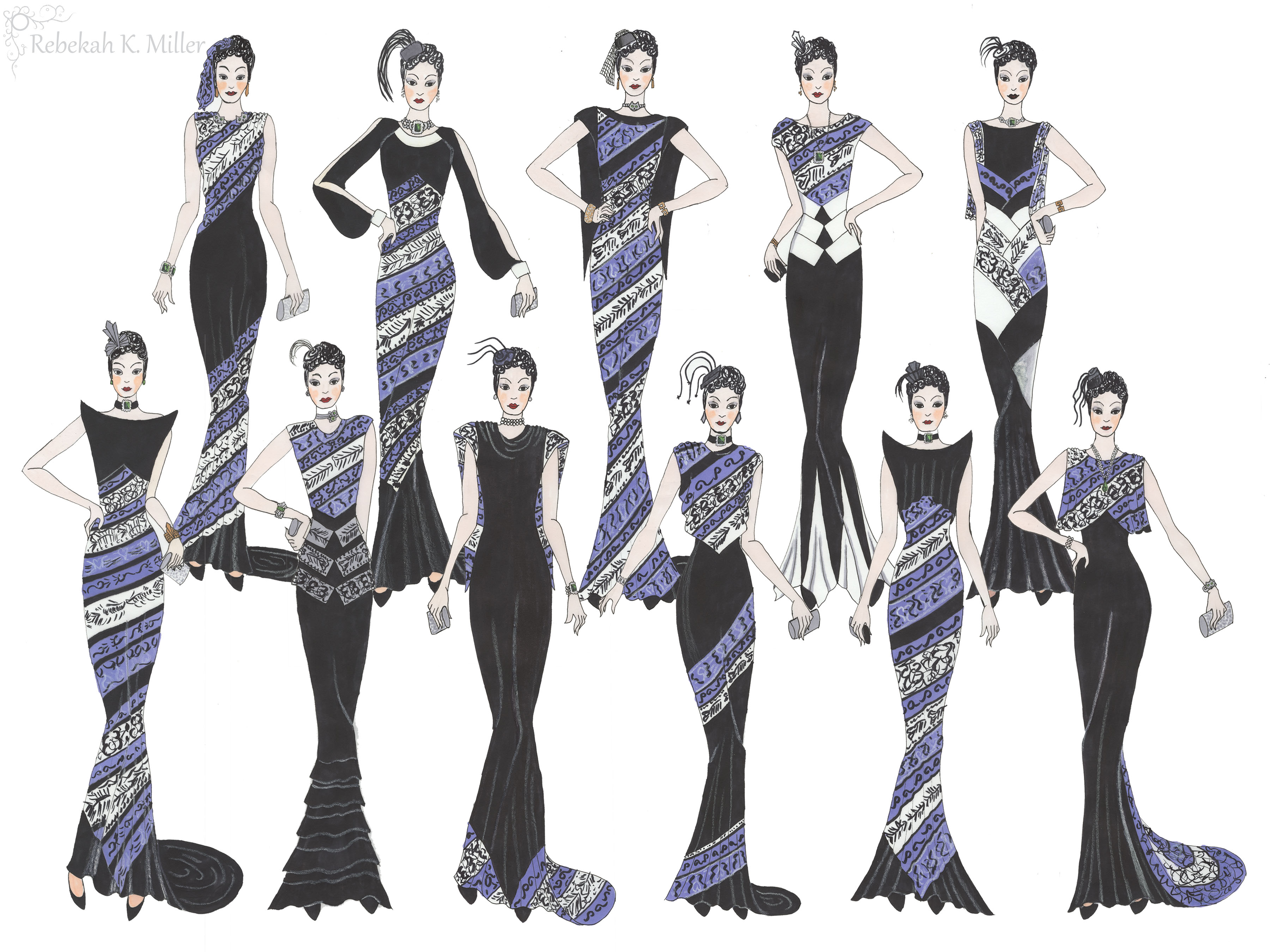 Draping Illustration Collection