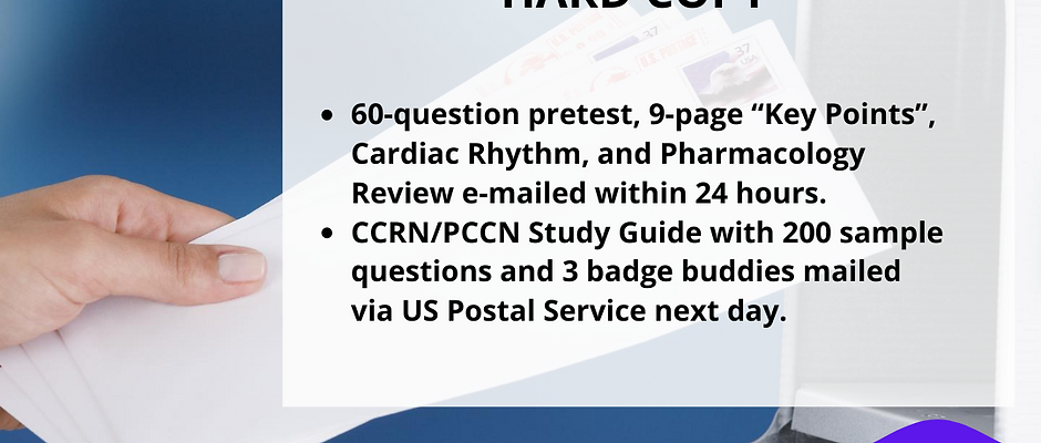 CCRN/PCCN Study Guide (HARD COPY)
