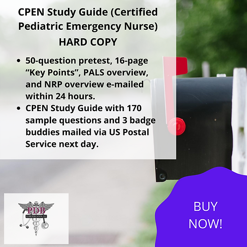 CPEN Study Guide (HARD COPY)