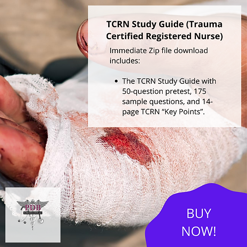 TCRN Study Guide (DOWNLOAD IMMEDIATELY)