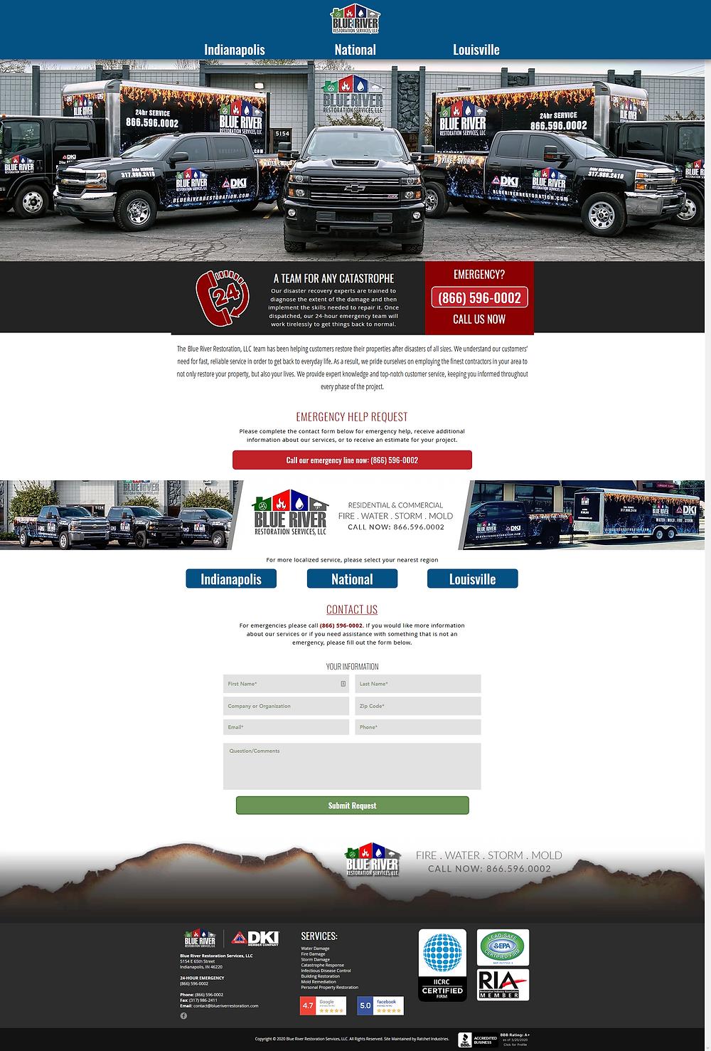 Blue River Restoration Home Page