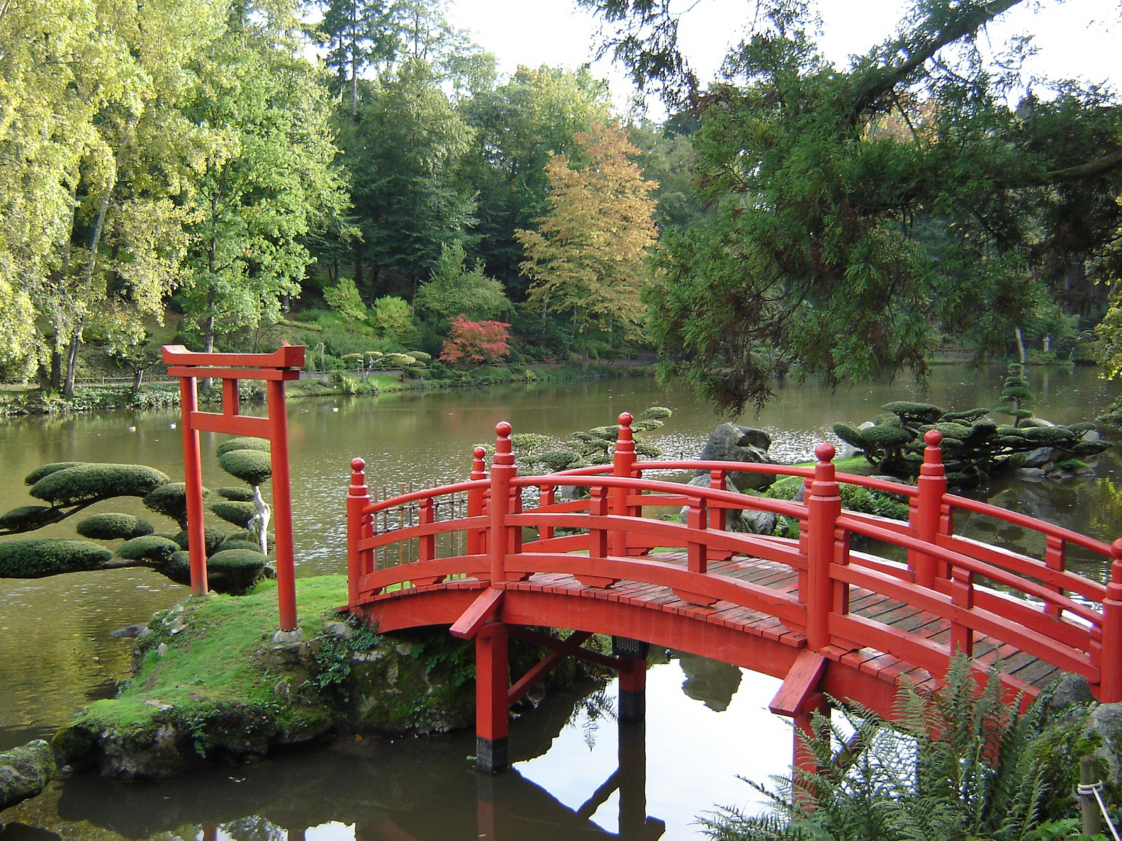 Pont japonais au parc oriental