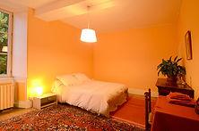 La chambre familiale mandarine