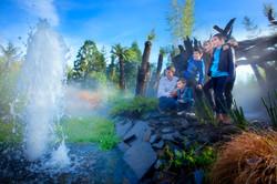 Jet d'eau au parc Terra Botanica