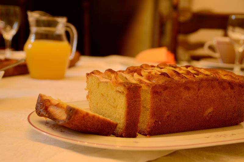 le délicieux cake au pommes