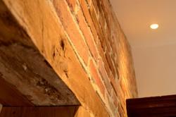 détail du mur en brique