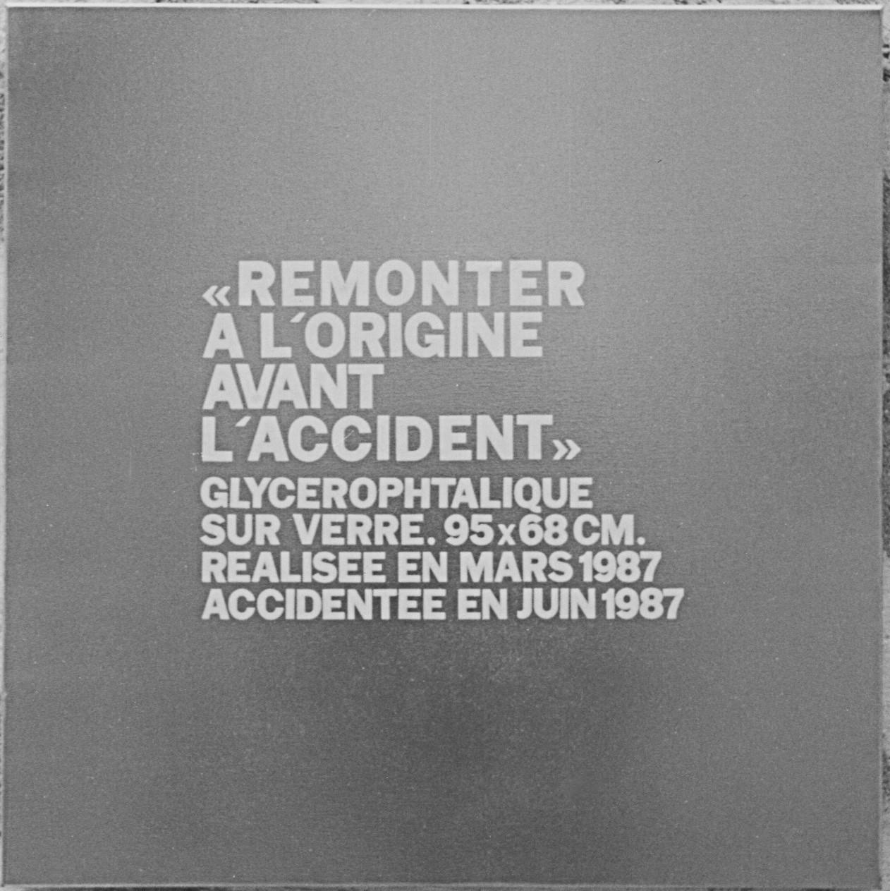 Date : fevrier 1994  Dimensions : 60 x 60 cm  Peinture aérosol chrome sur toile  Peinture ommémorative