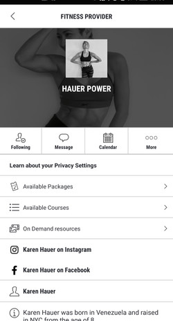 Gymcatch HP Registration Profile Page