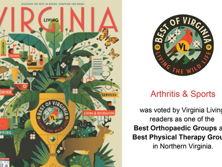 You Voted Us as One of The Best Orthopaedic and Physical Therapy Groups in Northern Virginia!