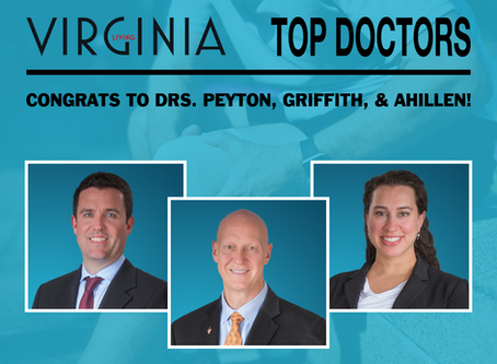 Top Doctor Honors from Virginia Living Magazine