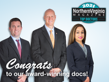 "Arthritis & Sports Providers Named ""Top Doctors"" By Northern Virginia Magazine!"
