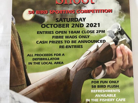Clay Shoot in memory of Mike Roberts Saturday 2nd October & Brainwave Shoot Thursday 23rd September