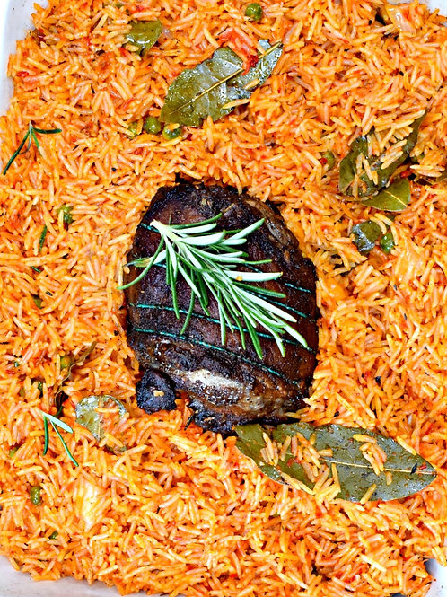 Jollof Rice & Stewed Lamb