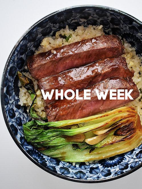 WHOLE WEEK'S MEAL (Mon - Fri)