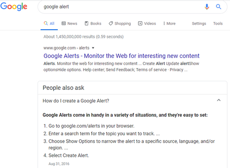 """What is a """"Google Alert"""" and how can it help you?"""