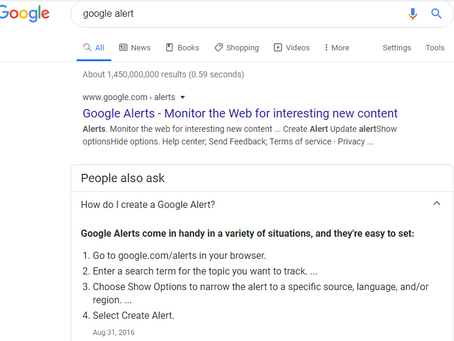 "What is a ""Google Alert"" and how can it help you?"