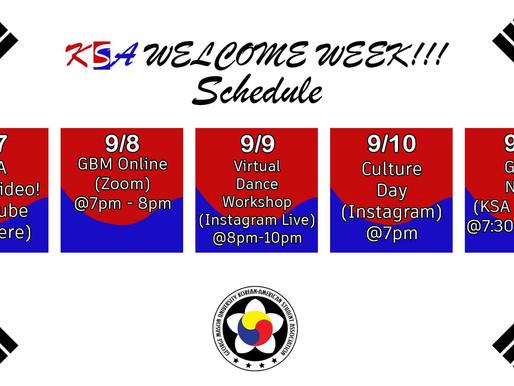 Welcome Week Starts This Week!