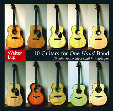 Disco CD 10 Chitarre per dieci studi in Flatfinger di Walter Lupi