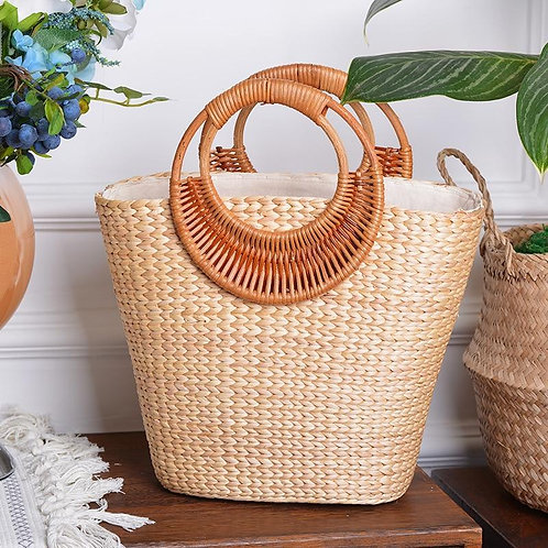 Woven Straw Bag Handmade Luxury Handbags Design Bohemia Tote