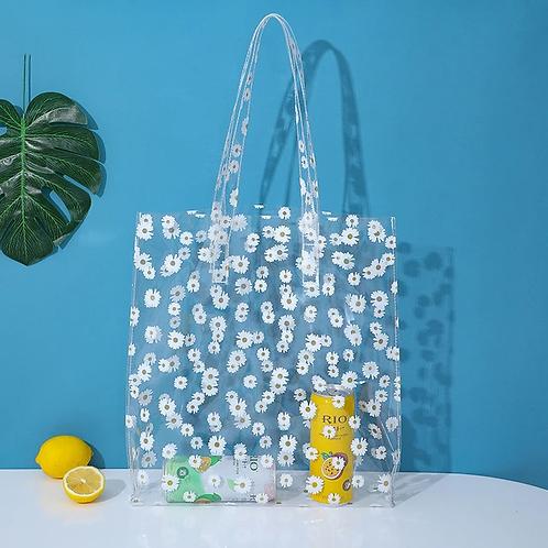 New Daisies Transparent Women Shoulder Bags