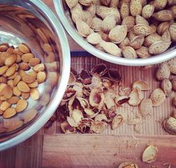 home grown almonds