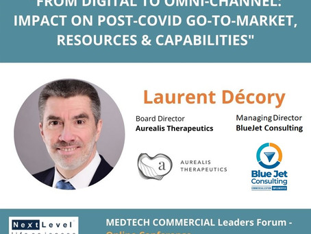 BlueJet Consulting Managing Director to present during MedTech Commercial Leaders Forum
