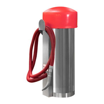comercial vac - 100002 - red hose - red