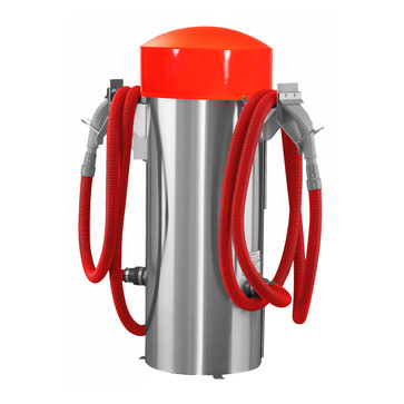 100006 - commercial vac - red hose - red