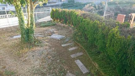 防草土作業前