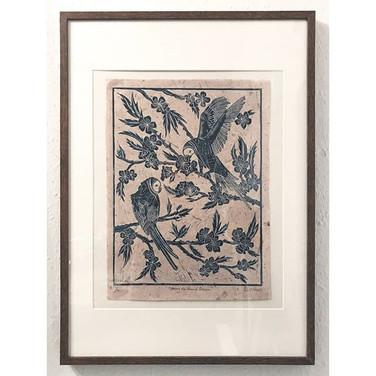 """Framed """"Among the Almond Blossom"""""""