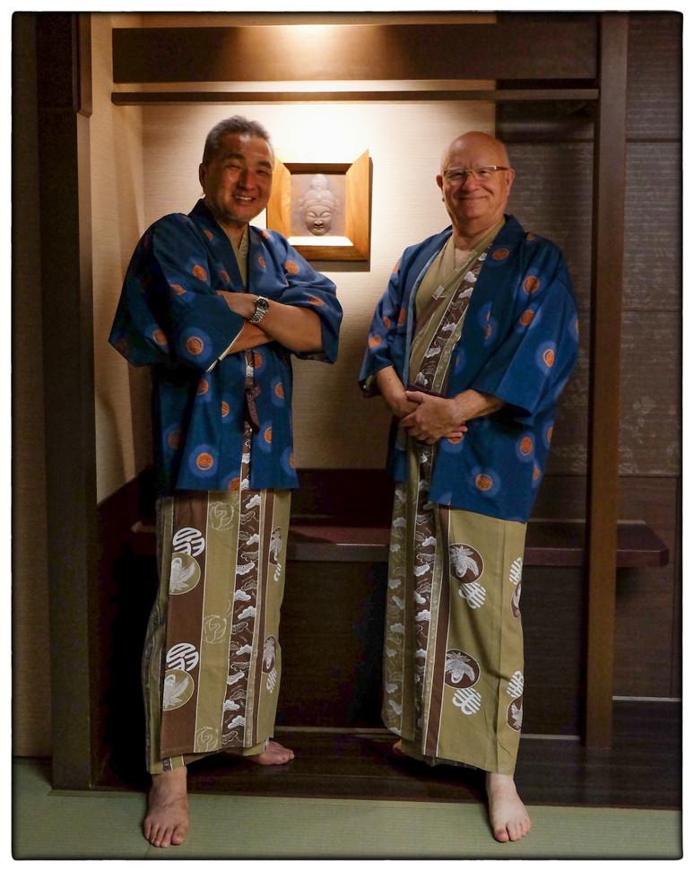 Susumu Shinya et moi en yukata