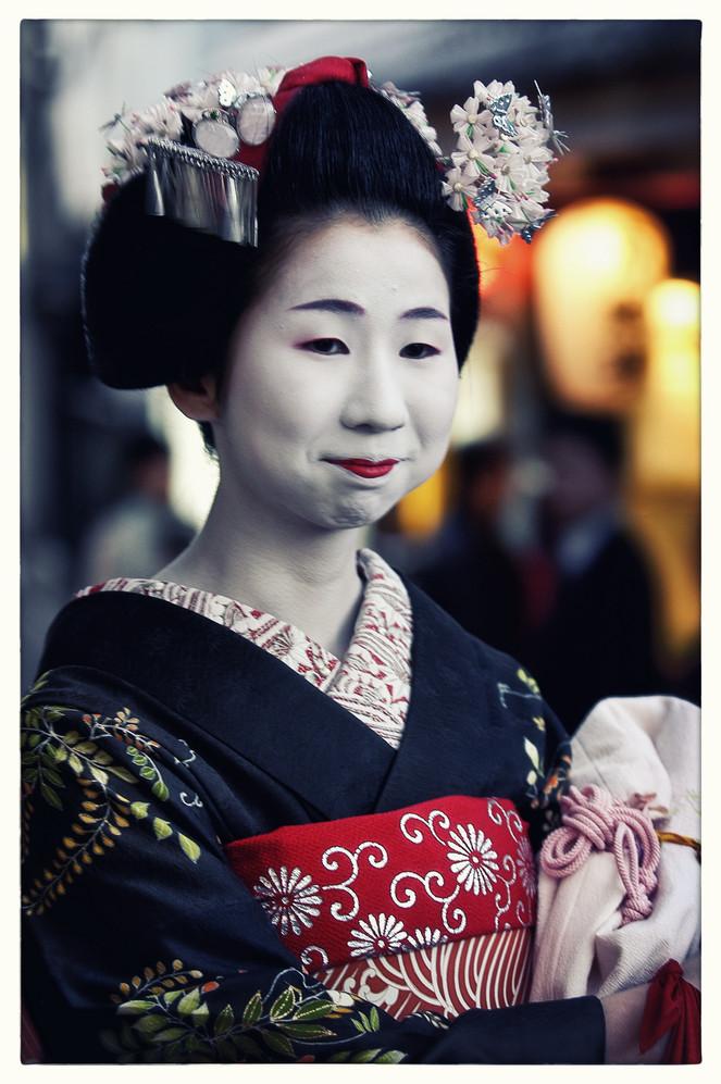 Japon  Geisha Kyoto Pontocho