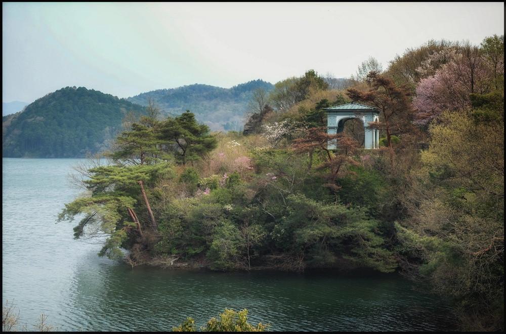 Parc musée Meiji Mura au bord du lac