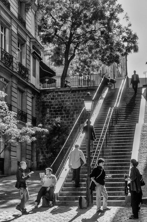 Escalier Butte Montmartre