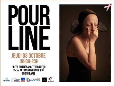 Octobre 2019 -  Exposition collective POUR LINE au Marriott Renaissance Paris 16éme.14 photographes