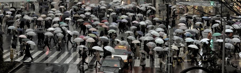 It rains at Shibuya