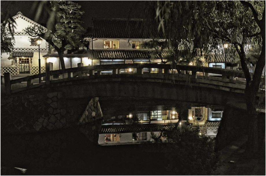Kurashiki reflets de nuit