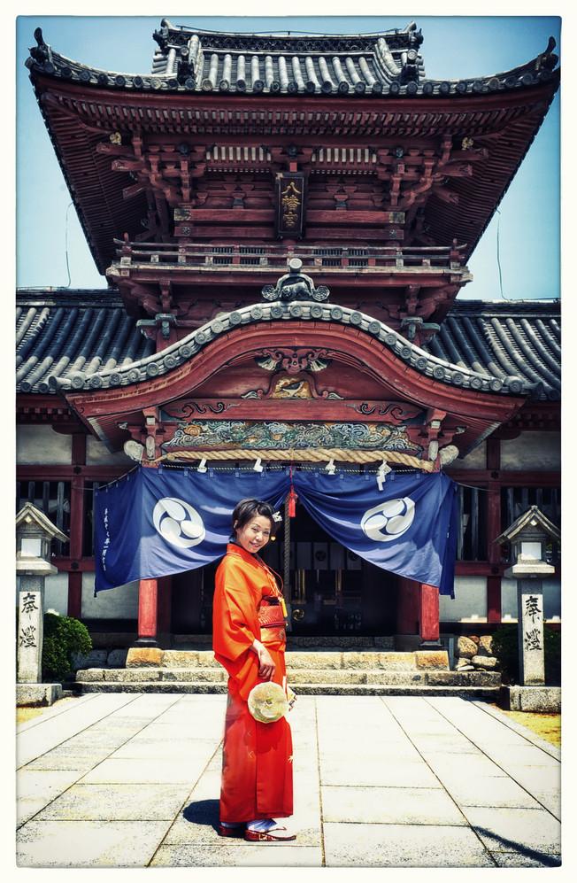 Matsuyama Dogo devant le temple