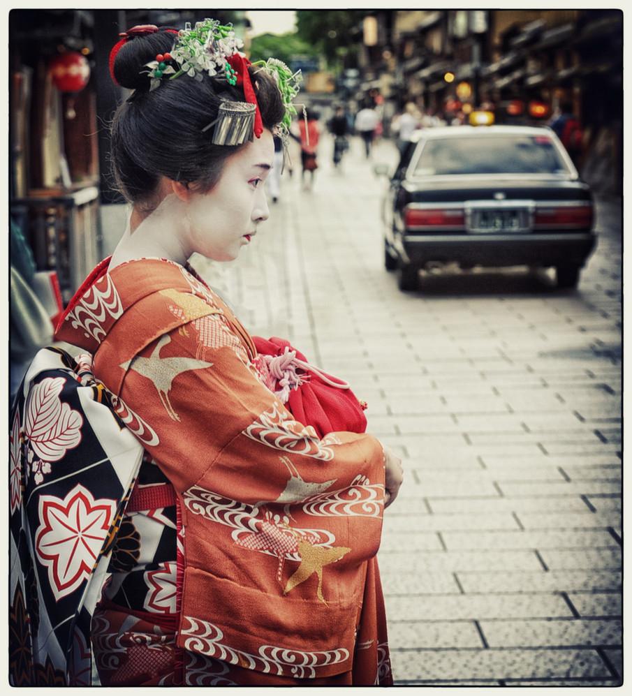 Japon geisha pensive