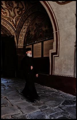 Bulgarie Pope Monastère de Rila