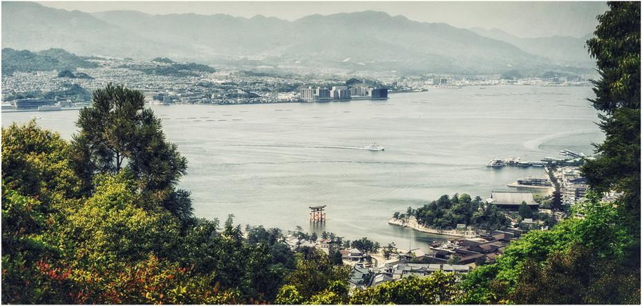 Baie Hiroshima vue de Miyajima