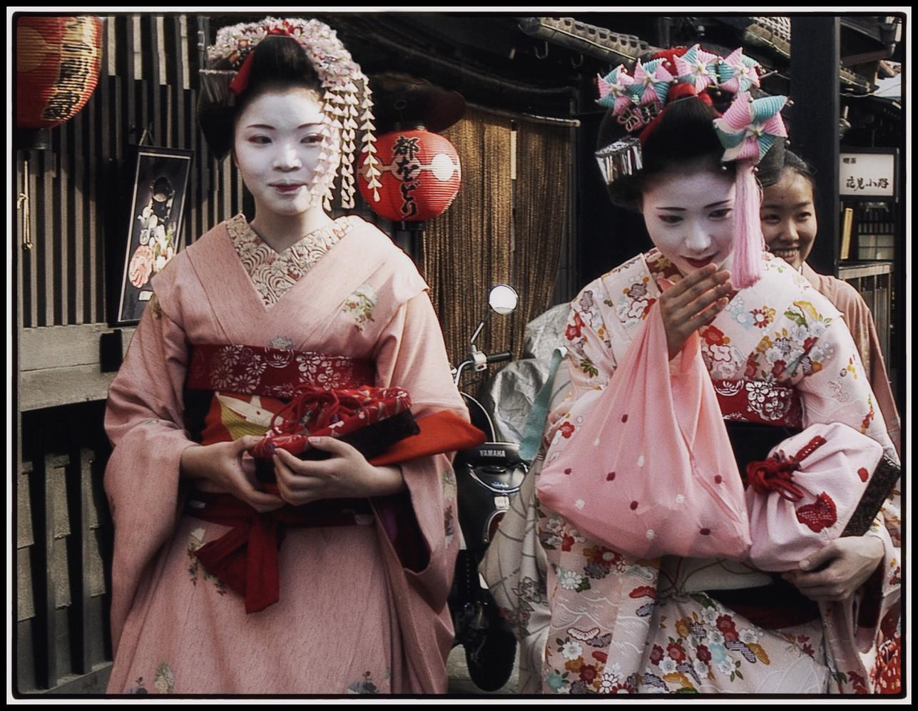 Japon  Geisha pouffant