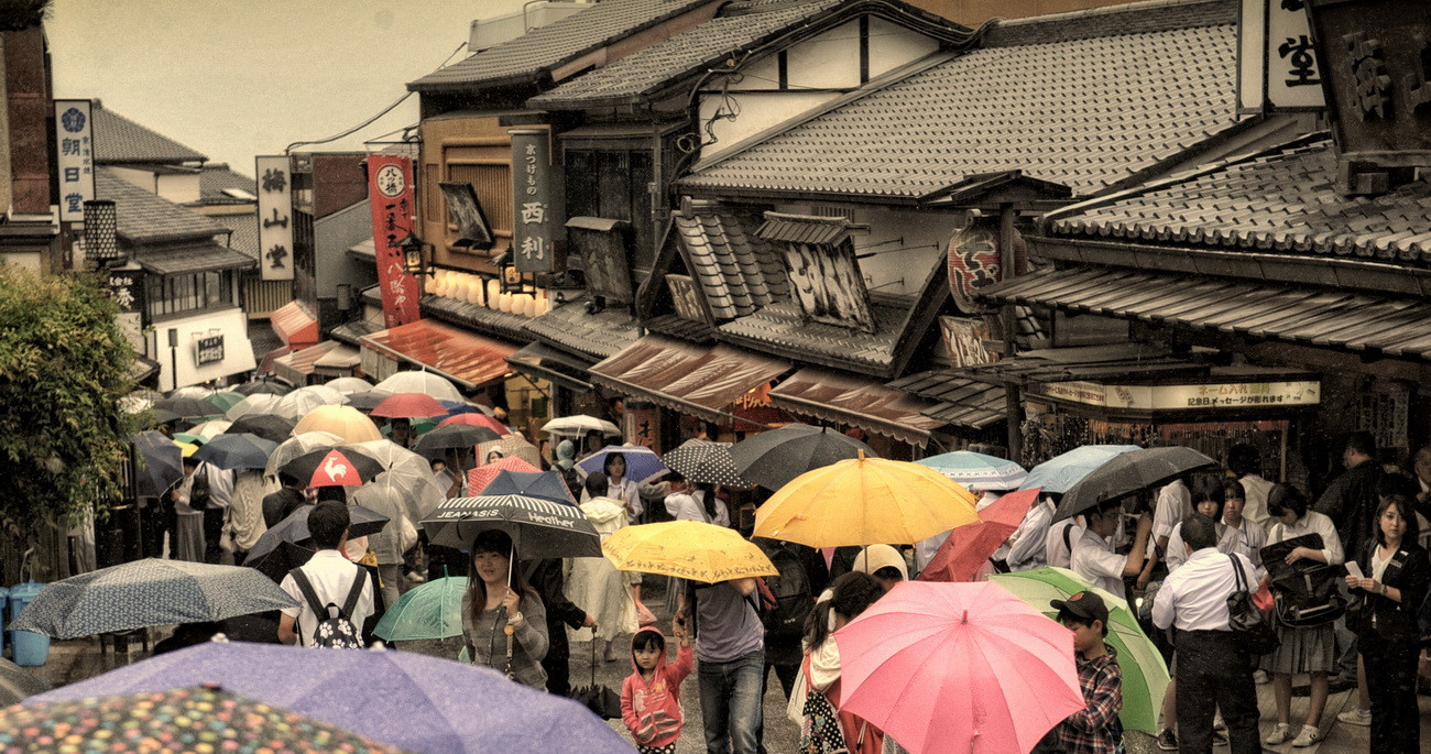 Kyoto ruelle vers le temple de Kyomizu