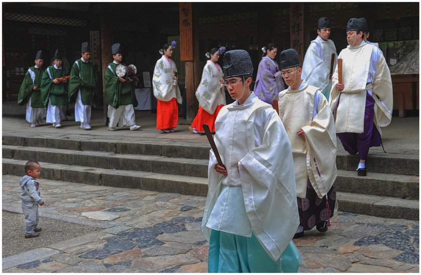 Nara - Défilé de prêtres shinto